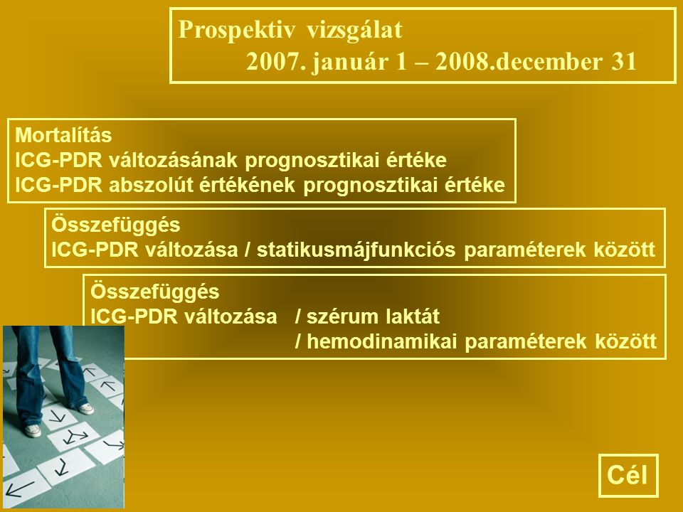 Prospektiv vizsgálat 2007. január 1 – 2008.december 31 Cél Mortalítás