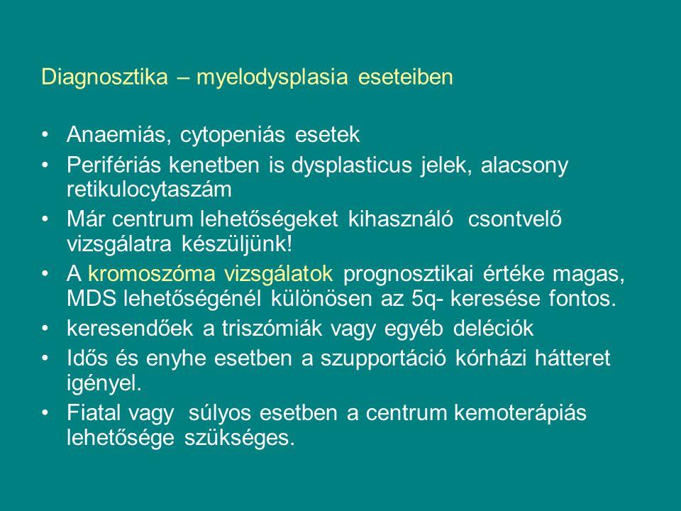 Diagnosztika – myelodysplasia eseteiben