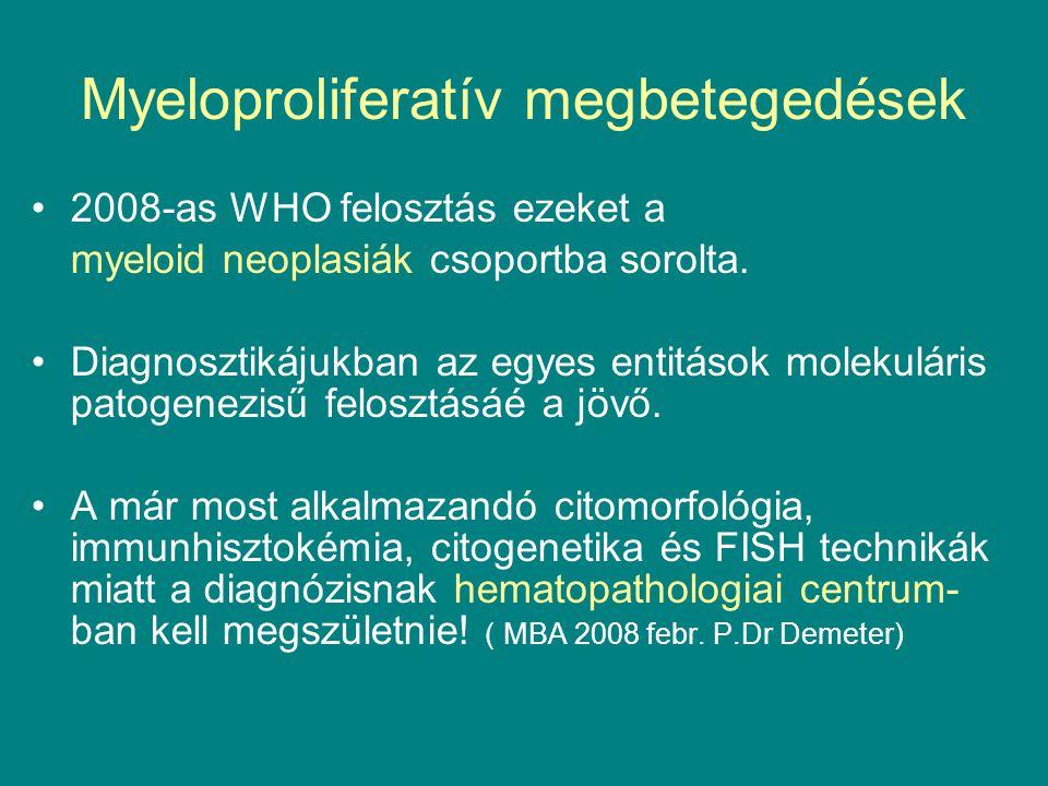 Myeloproliferatív megbetegedések
