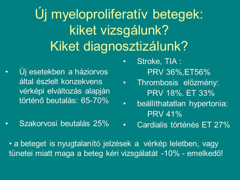 Új myeloproliferatív betegek: kiket vizsgálunk Kiket diagnosztizálunk