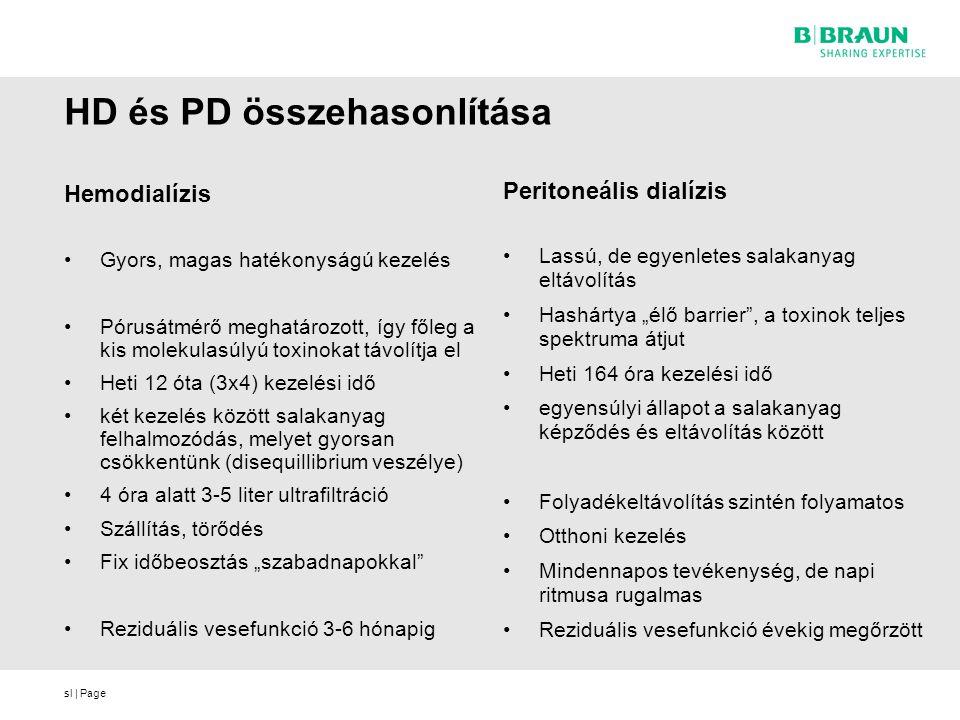 HD és PD összehasonlítása