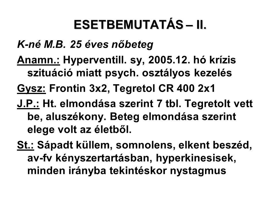 ESETBEMUTATÁS – II. K-né M.B. 25 éves nőbeteg