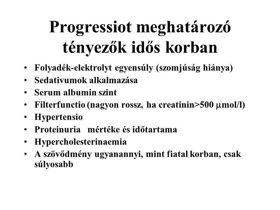 Progressiot meghatározó tényezők idős korban