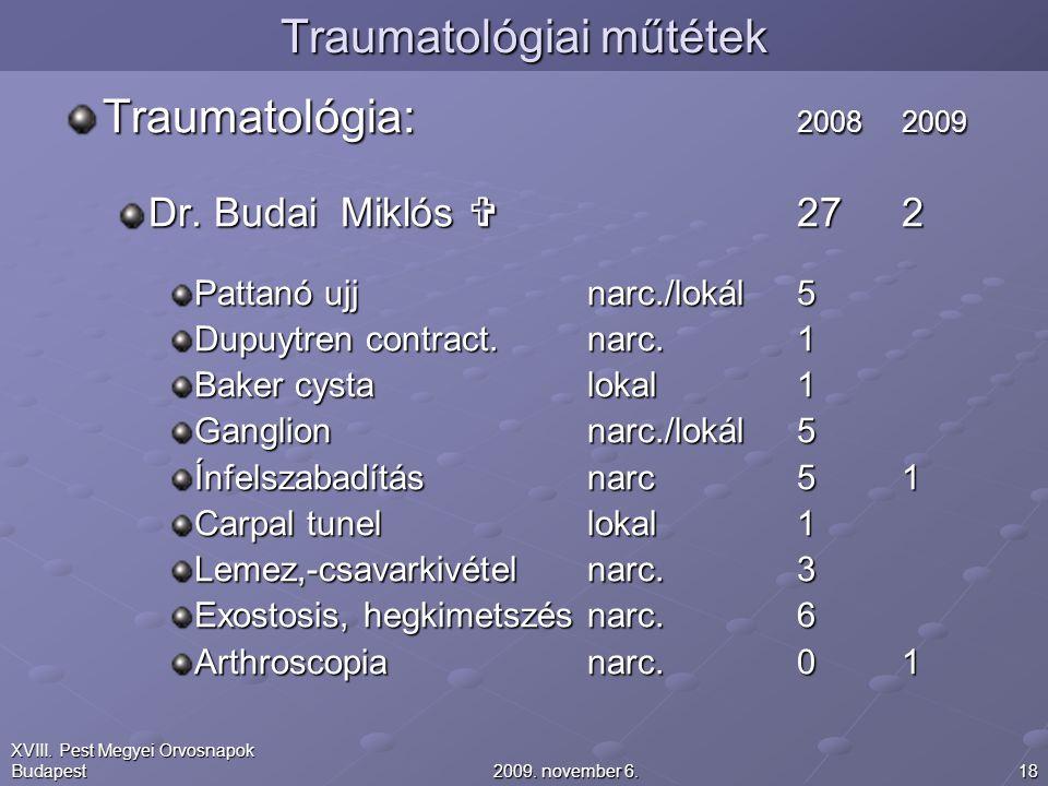 Traumatológiai műtétek