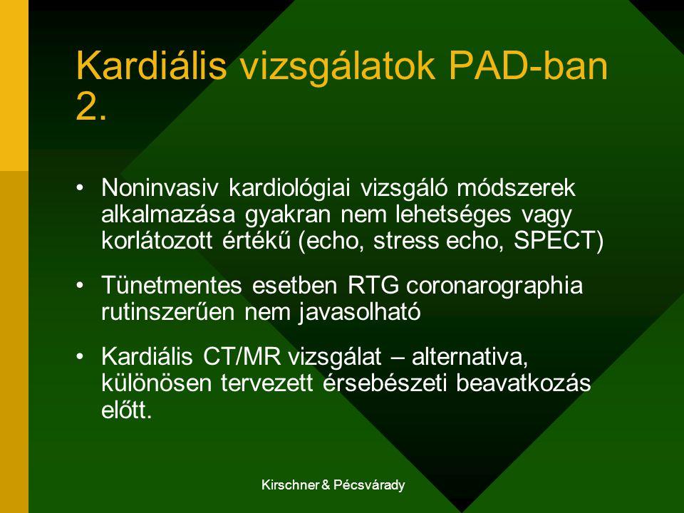 Kardiális vizsgálatok PAD-ban 2.