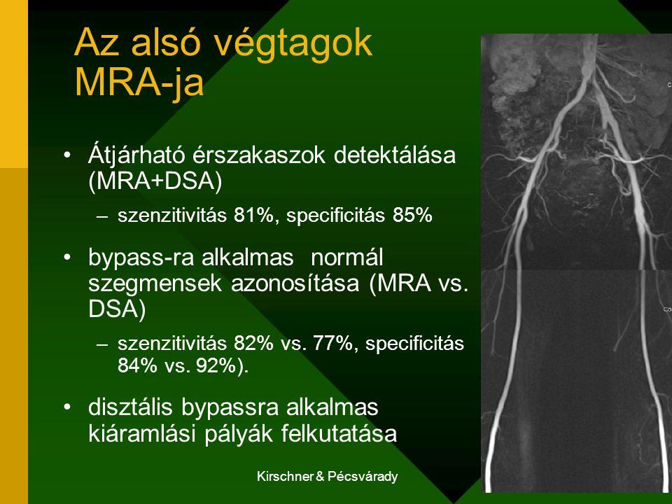 Az alsó végtagok MRA-ja