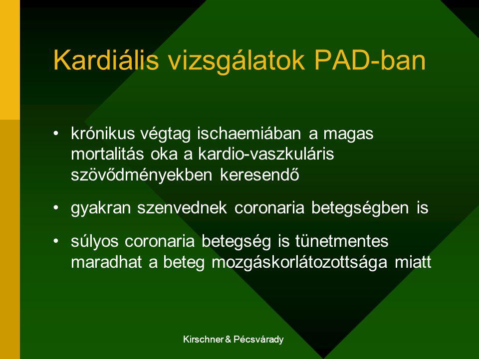 Kardiális vizsgálatok PAD-ban