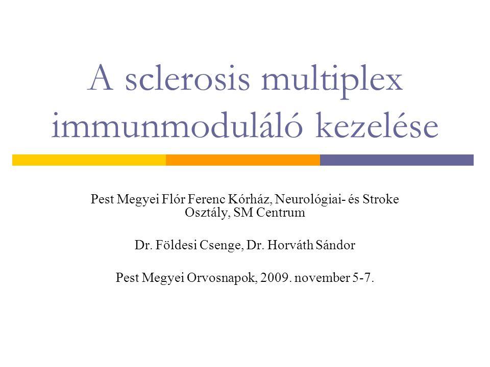 A sclerosis multiplex immunmoduláló kezelése