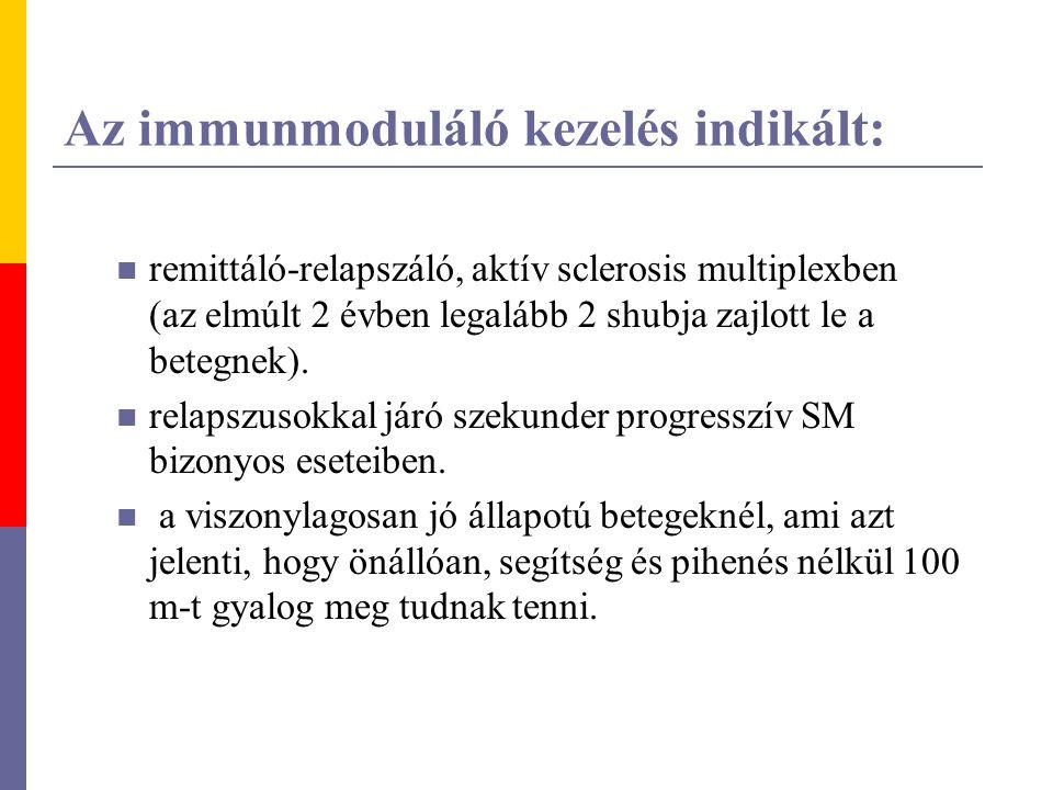 Az immunmoduláló kezelés indikált:
