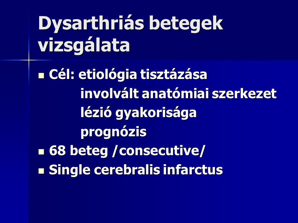 Dysarthriás betegek vizsgálata