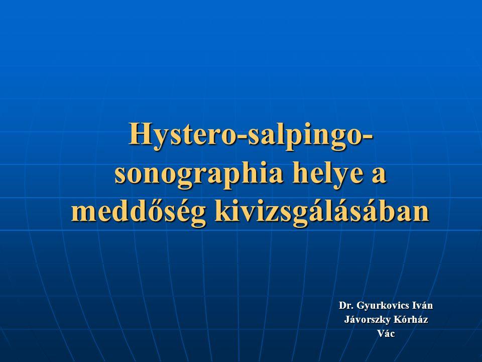 Hystero-salpingo-sonographia helye a meddőség kivizsgálásában