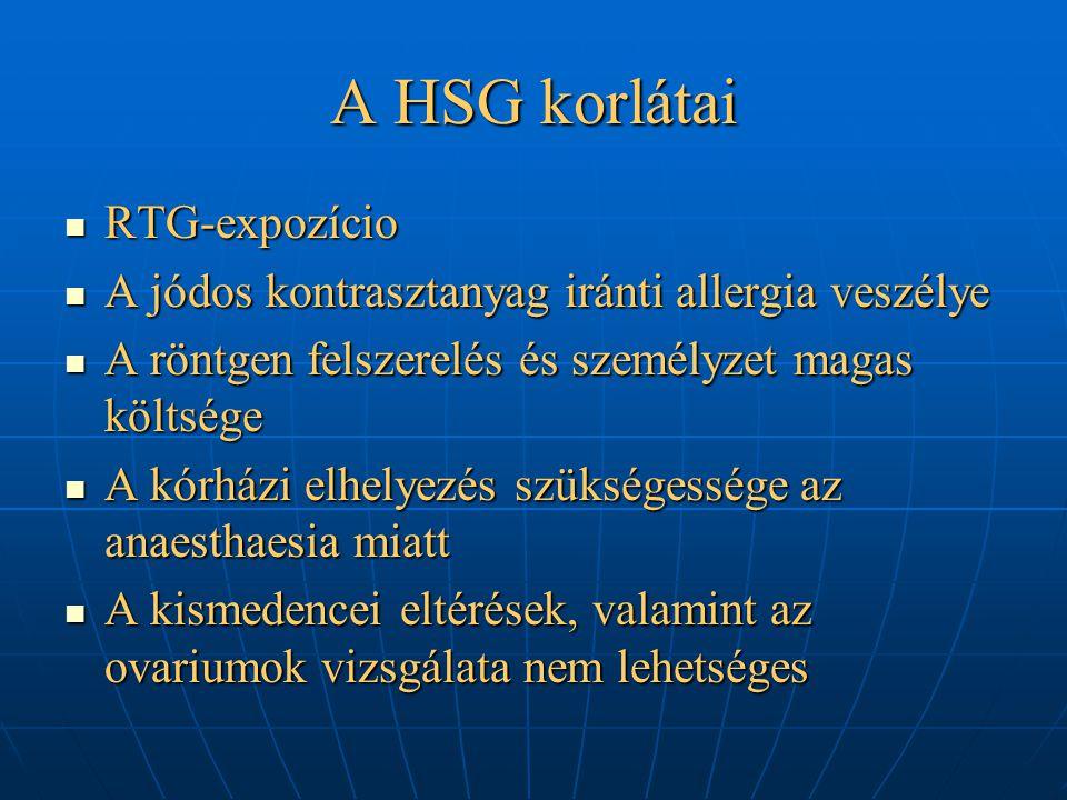 A HSG korlátai RTG-expozício
