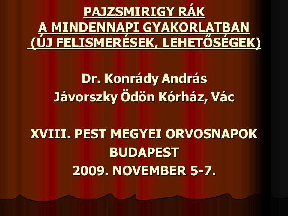 Jávorszky Ödön Kórház, Vác XVIII. PEST MEGYEI ORVOSNAPOK
