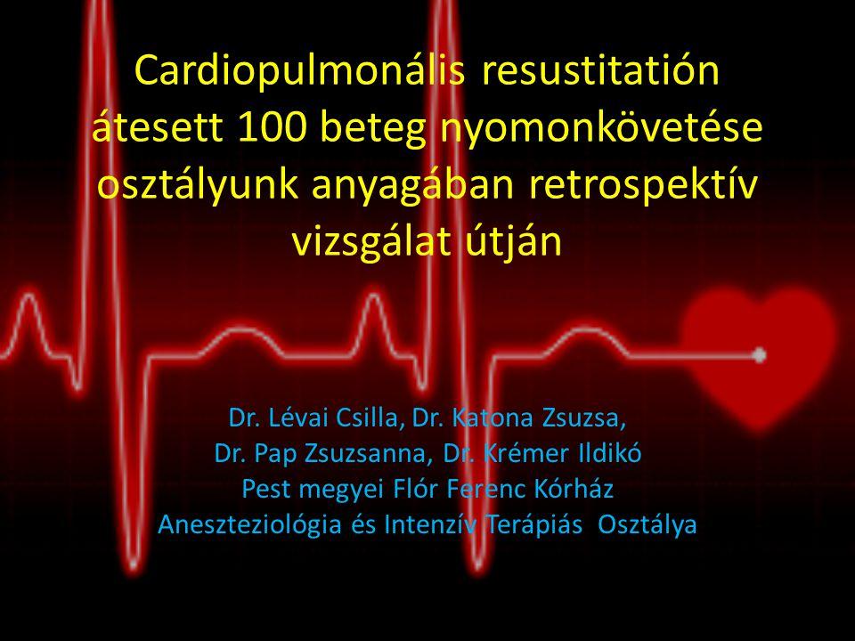 Cardiopulmonális resustitatión átesett 100 beteg nyomonkövetése osztályunk anyagában retrospektív vizsgálat útján
