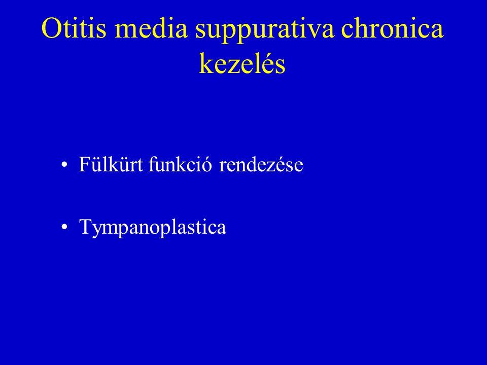 Otitis media suppurativa chronica kezelés