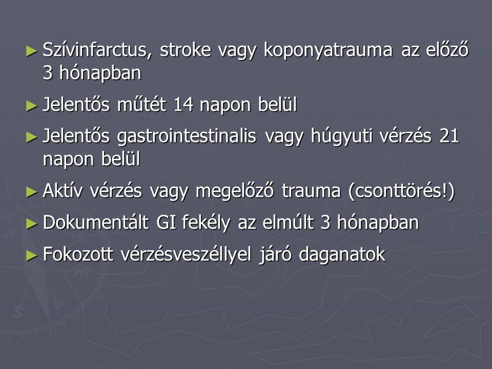 Szívinfarctus, stroke vagy koponyatrauma az előző 3 hónapban