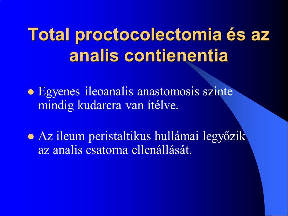 Total proctocolectomia és az analis contienentia