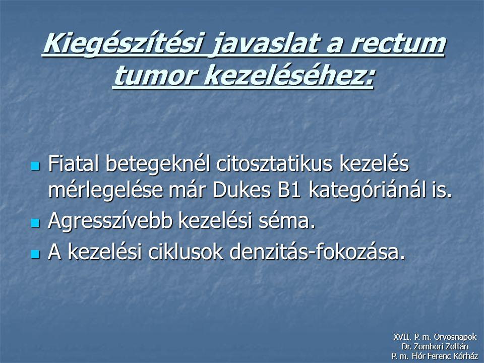 Kiegészítési javaslat a rectum tumor kezeléséhez: