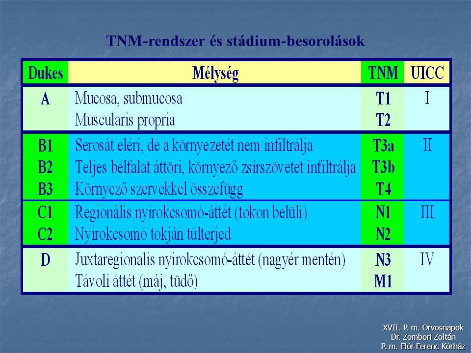 TNM-rendszer és stádium-besorolások