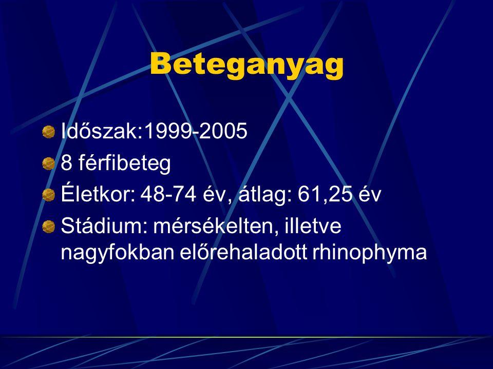 Beteganyag Időszak:1999-2005 8 férfibeteg