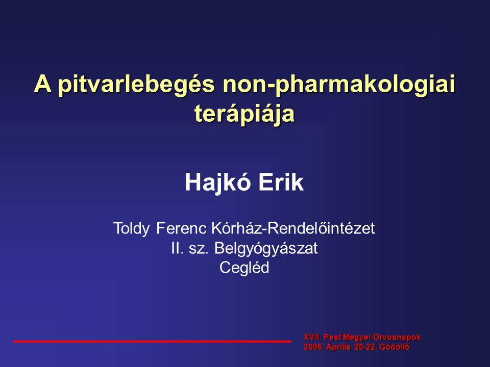 A pitvarlebegés non-pharmakologiai terápiája