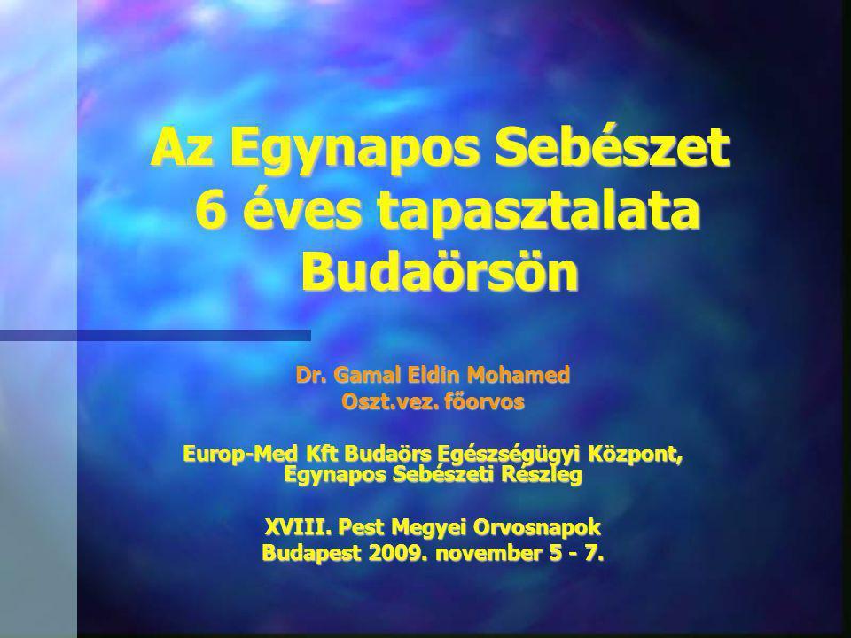 Az Egynapos Sebészet 6 éves tapasztalata Budaörsön