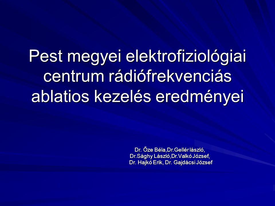 Pest megyei elektrofiziológiai centrum rádiófrekvenciás ablatios kezelés eredményei