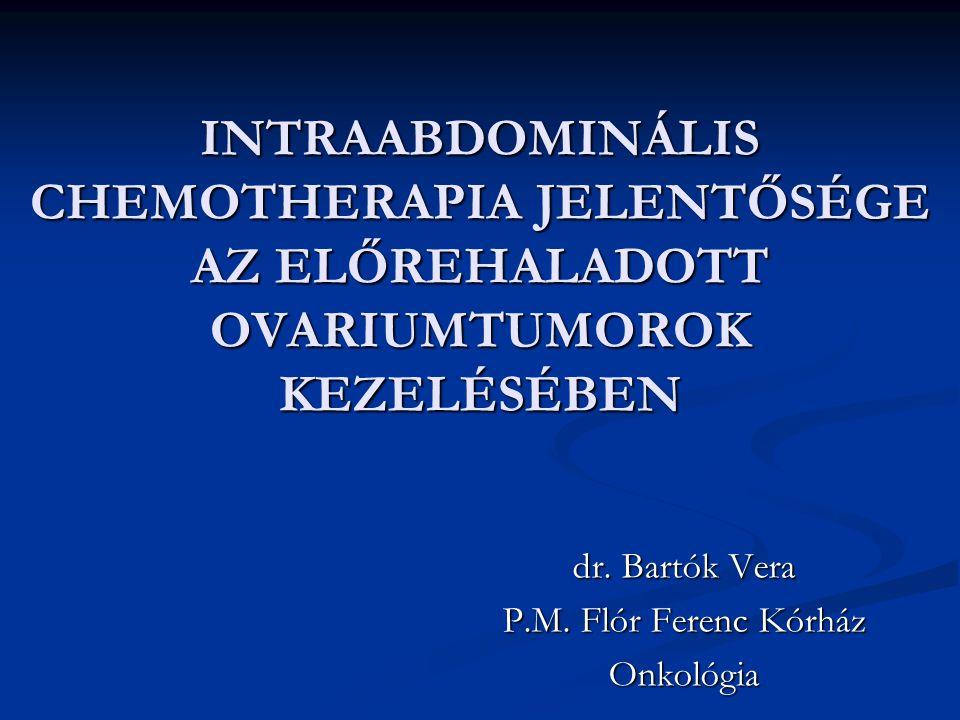 dr. Bartók Vera P.M. Flór Ferenc Kórház Onkológia