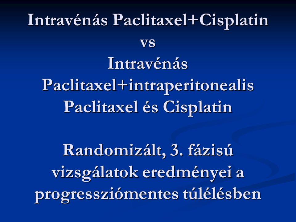 Intravénás Paclitaxel+Cisplatin vs Intravénás Paclitaxel+intraperitonealis Paclitaxel és Cisplatin Randomizált, 3.