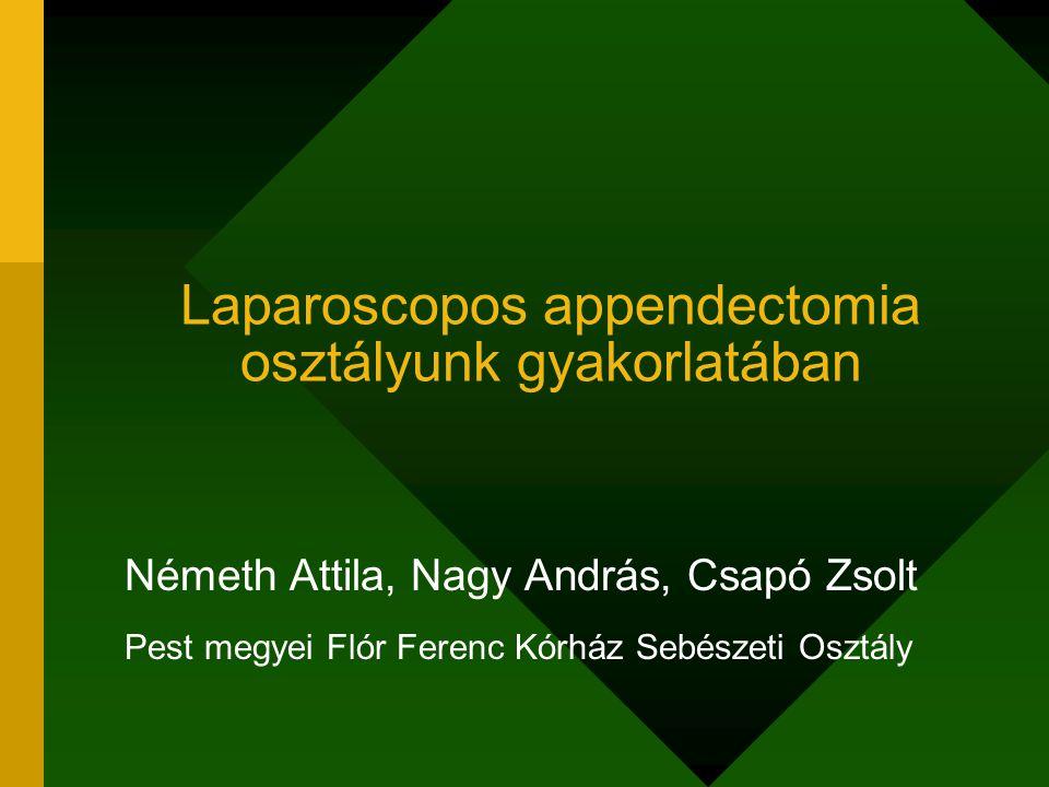 Laparoscopos appendectomia osztályunk gyakorlatában