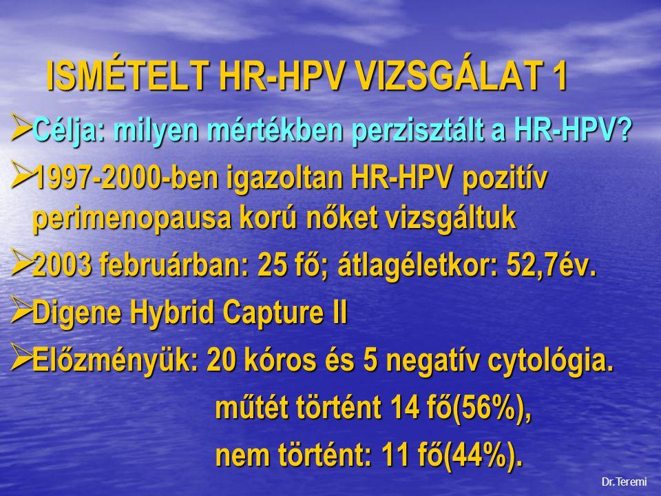 ISMÉTELT HR-HPV VIZSGÁLAT 1