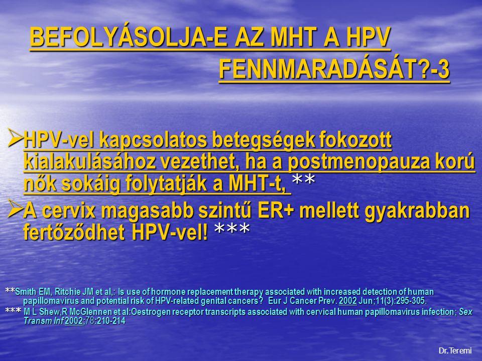 BEFOLYÁSOLJA-E AZ MHT A HPV FENNMARADÁSÁT -3
