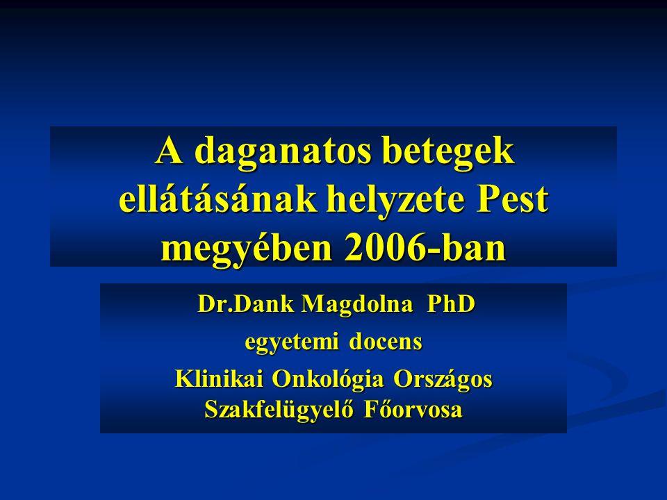 A daganatos betegek ellátásának helyzete Pest megyében 2006-ban