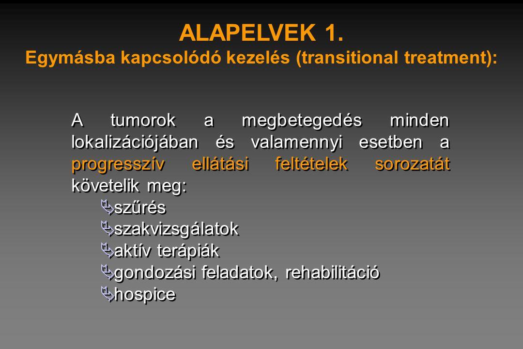 Egymásba kapcsolódó kezelés (transitional treatment):