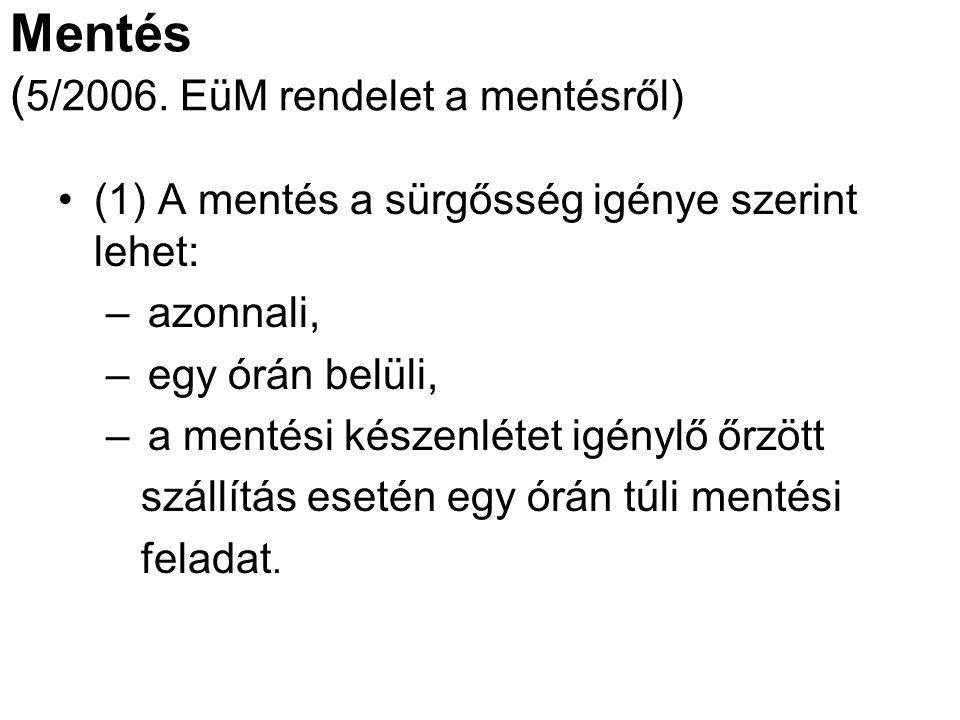 Mentés (5/2006. EüM rendelet a mentésről)