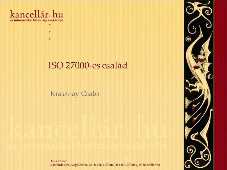 ISO 27000-es család Krasznay Csaba
