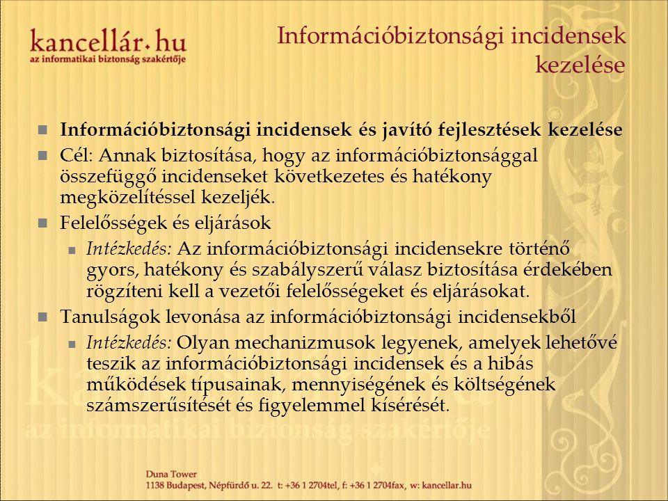 Információbiztonsági incidensek kezelése