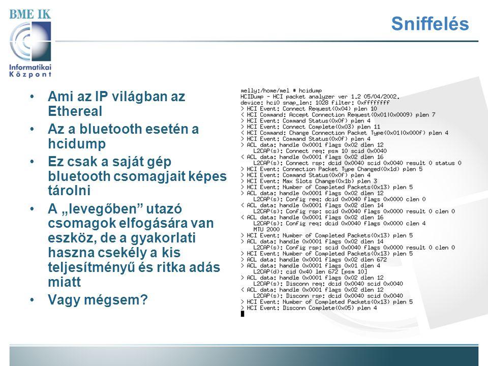 Sniffelés Ami az IP világban az Ethereal