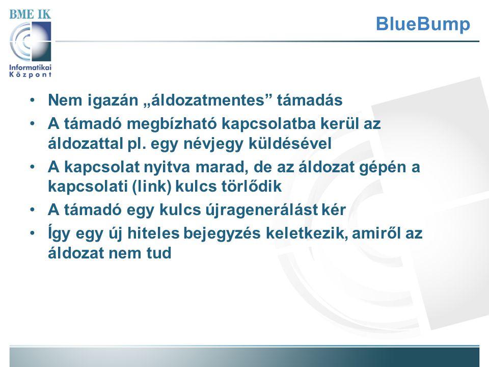 """BlueBump Nem igazán """"áldozatmentes támadás"""