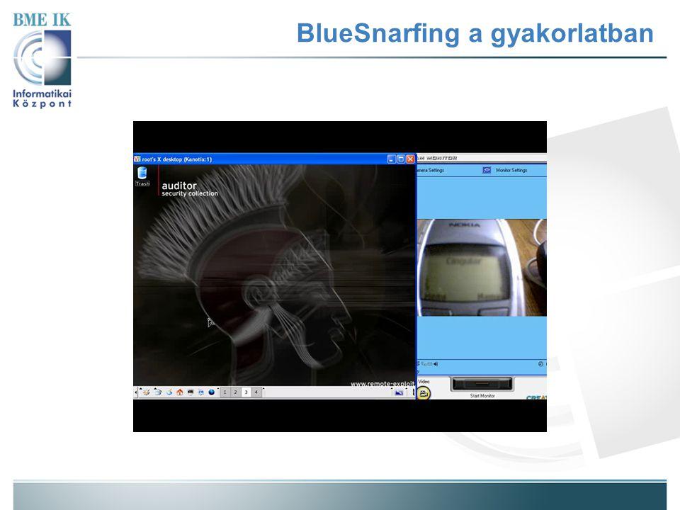 BlueSnarfing a gyakorlatban