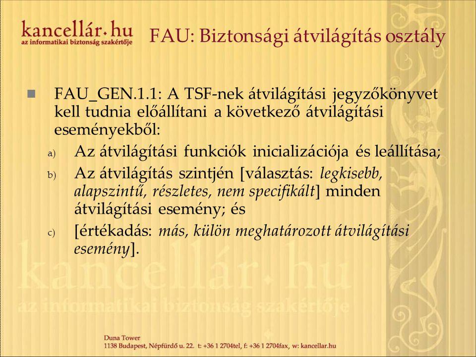 FAU: Biztonsági átvilágítás osztály