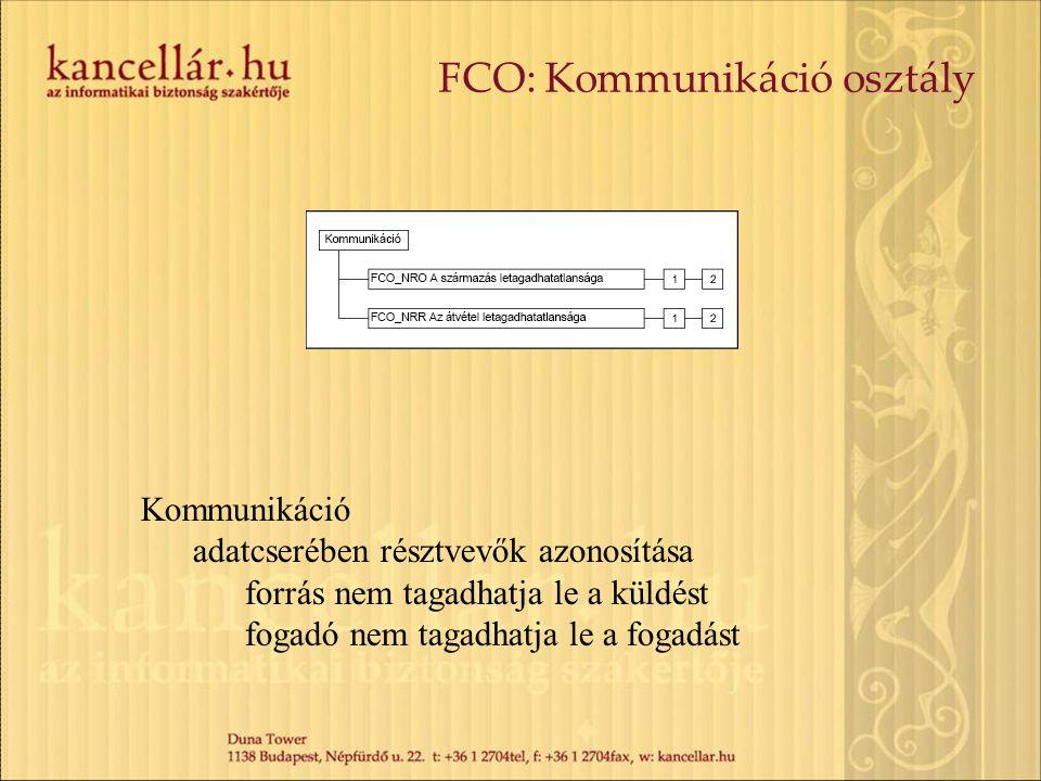 FCO: Kommunikáció osztály