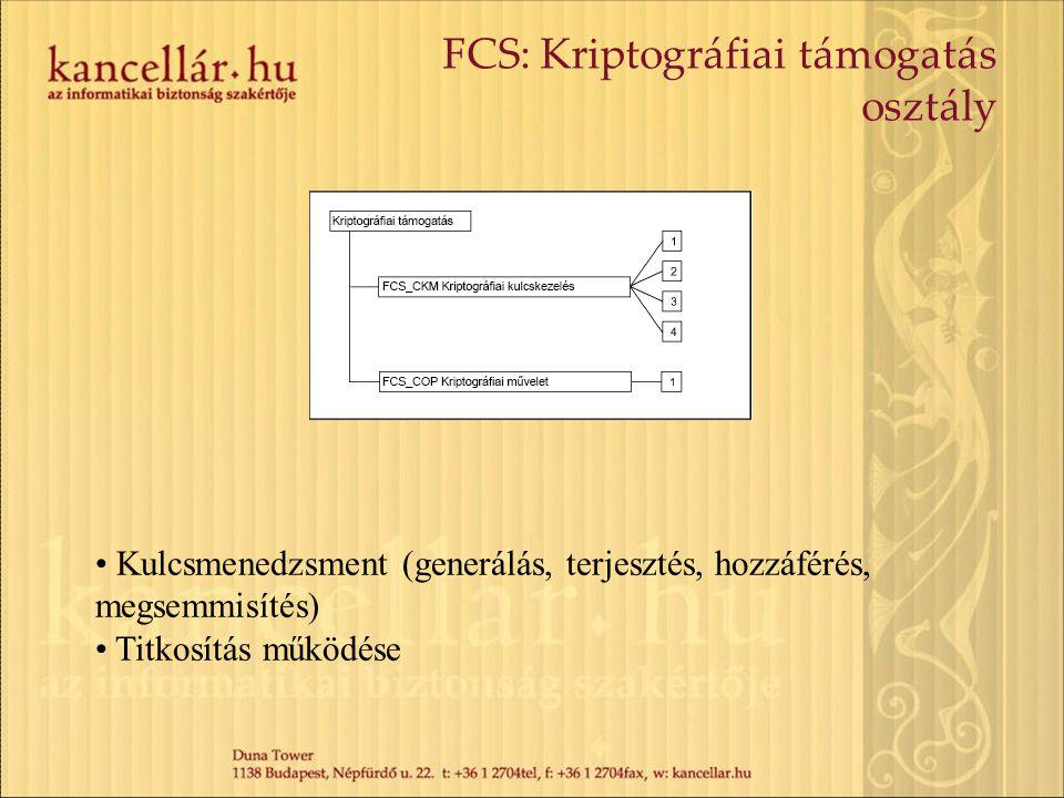 FCS: Kriptográfiai támogatás osztály