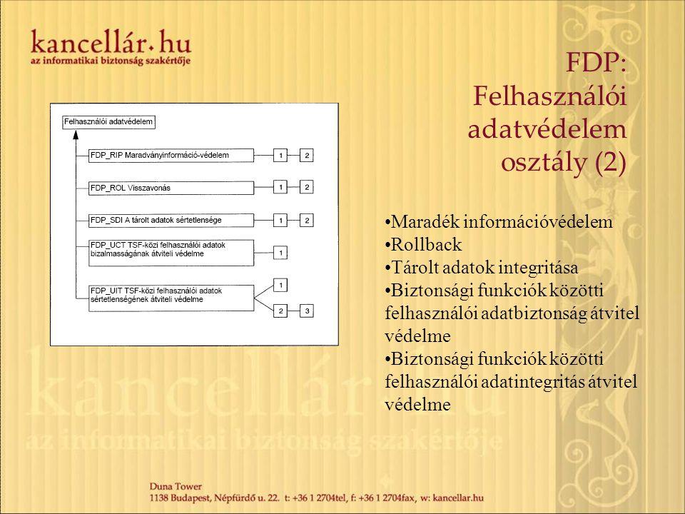 FDP: Felhasználói adatvédelem osztály (2)