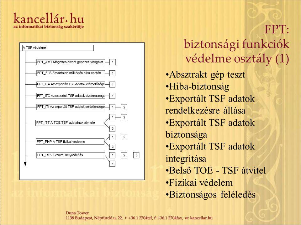 FPT: biztonsági funkciók védelme osztály (1)
