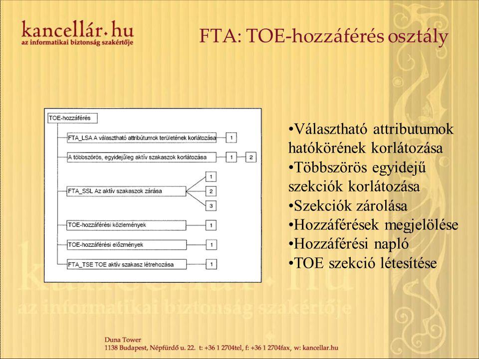 FTA: TOE-hozzáférés osztály