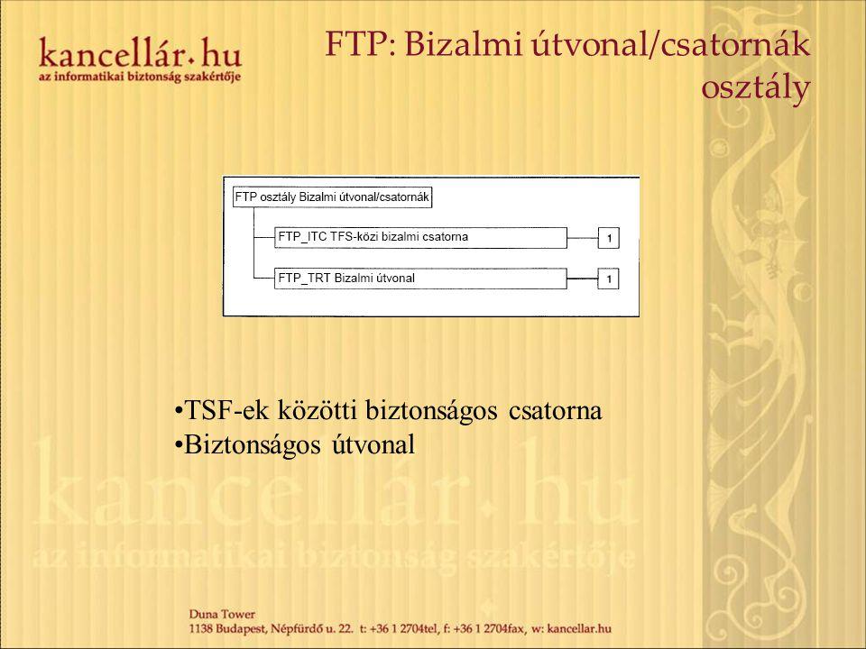 FTP: Bizalmi útvonal/csatornák osztály