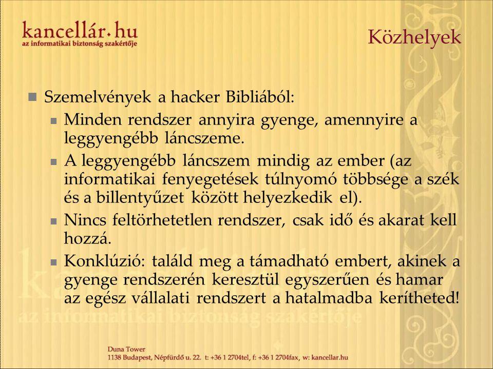 Közhelyek Szemelvények a hacker Bibliából: