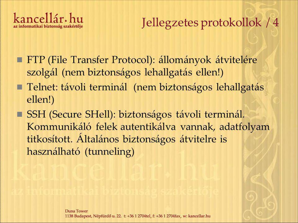 Jellegzetes protokollok / 4