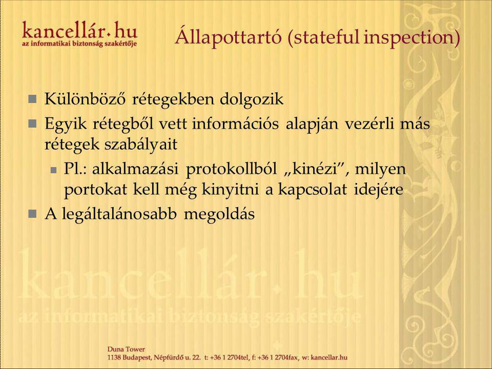 Állapottartó (stateful inspection)